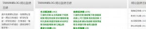 台灣部落格網站目錄